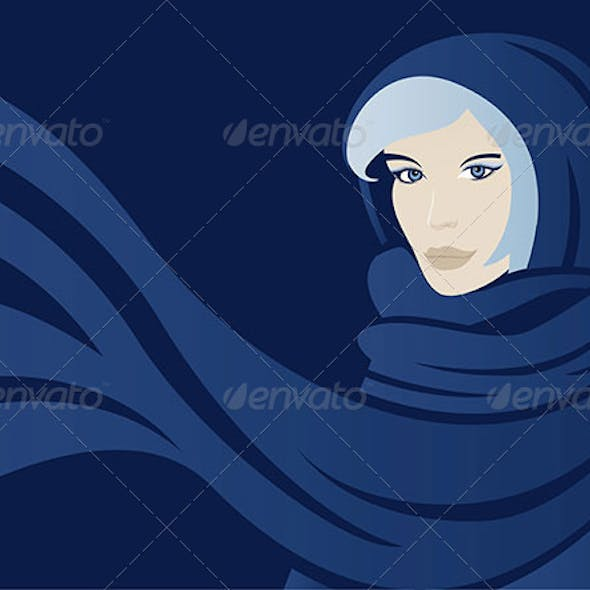 Winter Woman With Scarf