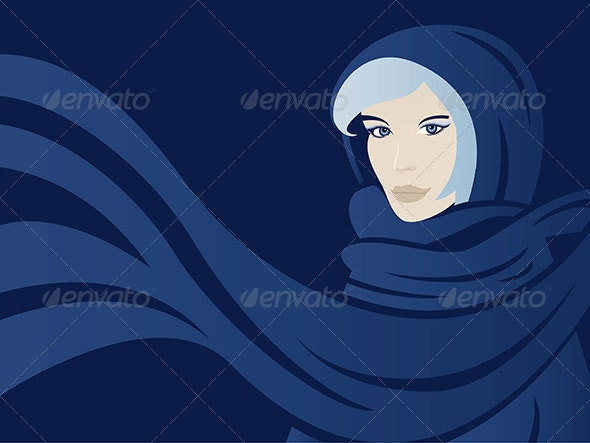 Winter Woman With Scarf - People Characters