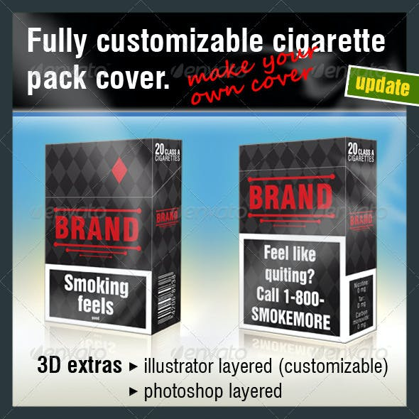 Fully Customizable Cigarette Pack Cover
