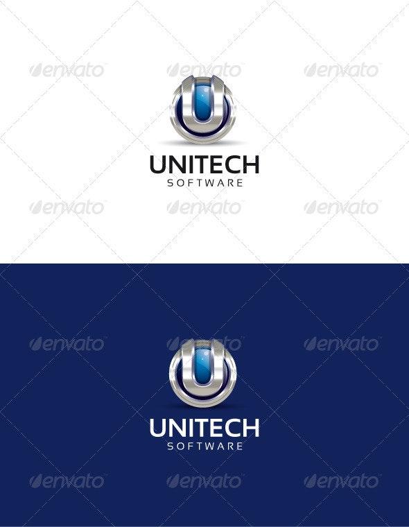 Unitech logo - 3d Abstract