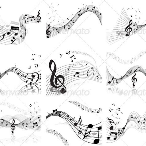 Musical Staff Set