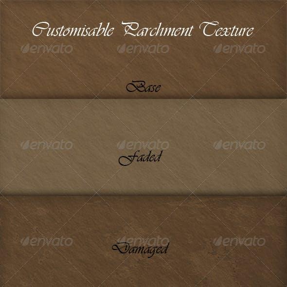 Customisable Parchment Texture