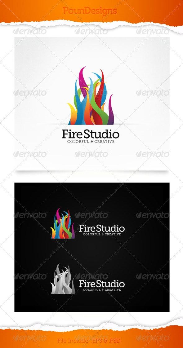 Fire Studio - Symbols Logo Templates