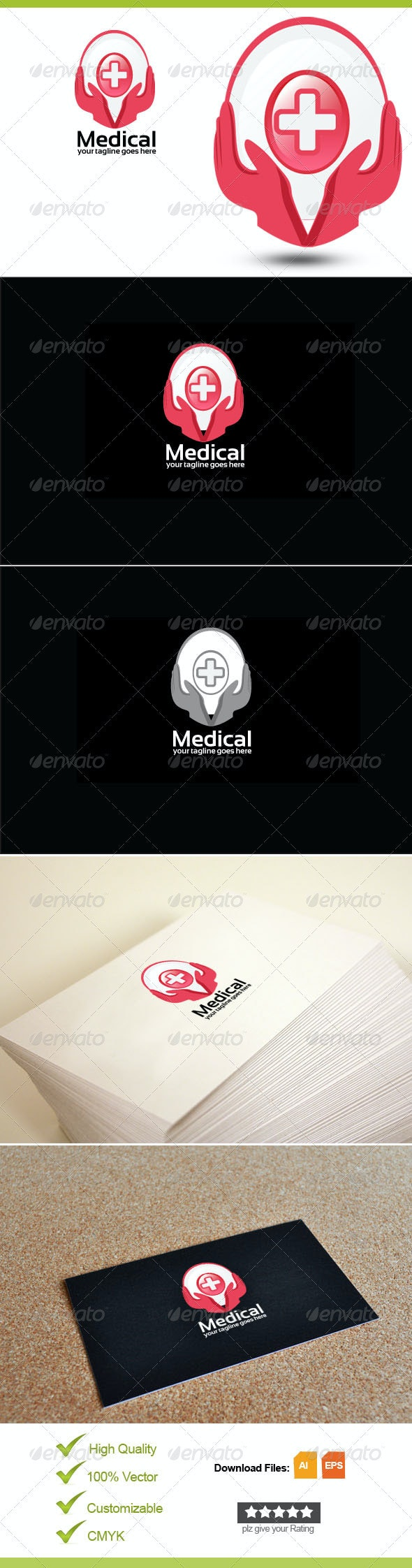 Medical, Health, Care Logo Template - Objects Logo Templates