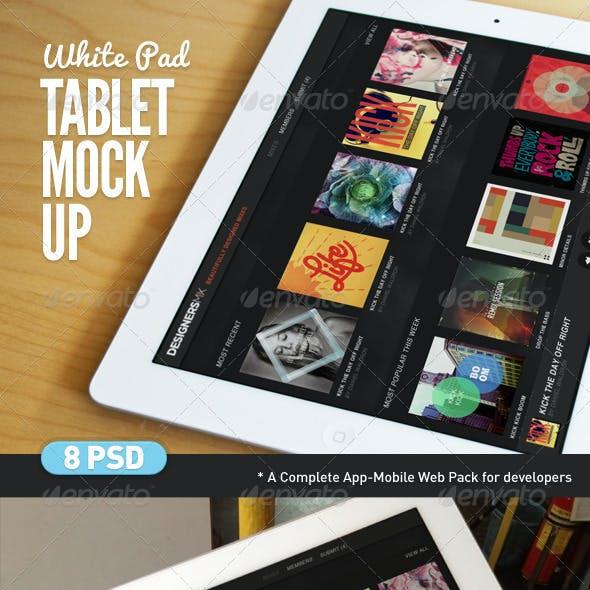 Tablet App White Pad Mock-Up