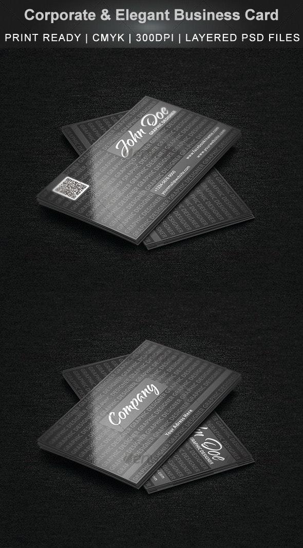 Corporate & Elegant Business Card - Corporate Business Cards