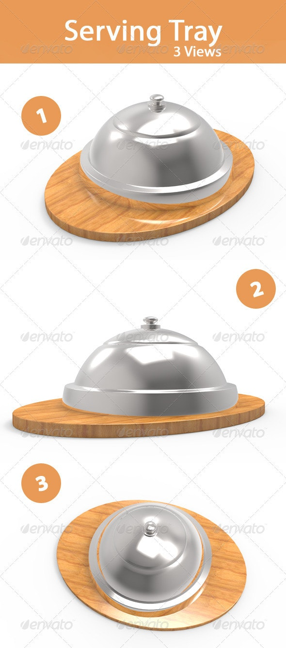 Serving tray - 3D Backgrounds