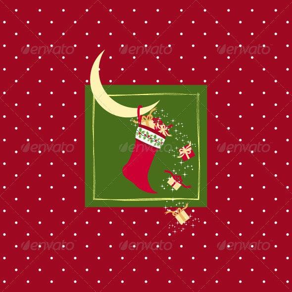 Red Christmas Greeting Card - Christmas Seasons/Holidays