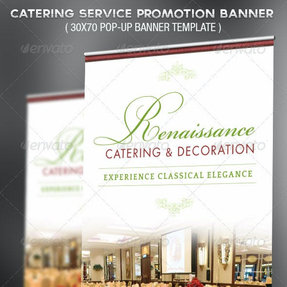 Catering Service Promotional Banner Template