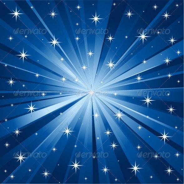 Blue Stars Vector Background - Backgrounds Decorative