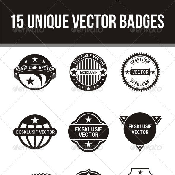 15 Unique Vector Badges