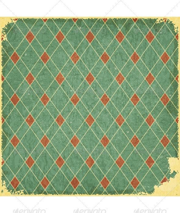 Grunge blue checkered background - Backgrounds Decorative