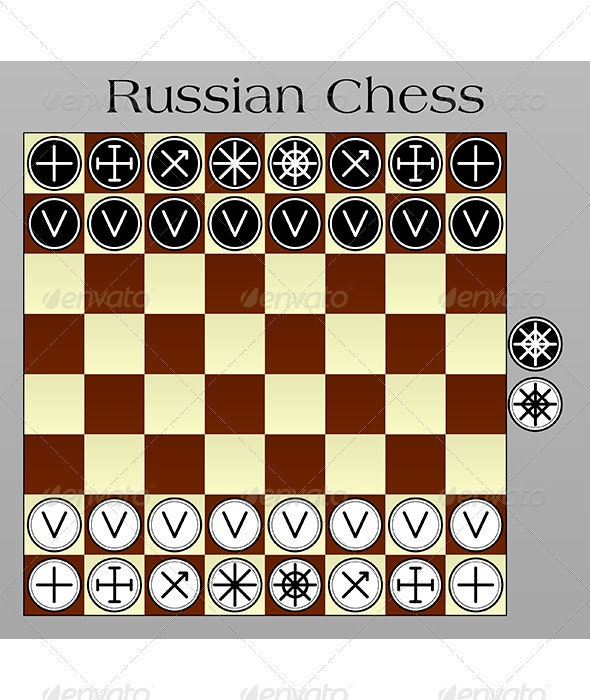 Russian Chess - Miscellaneous Vectors