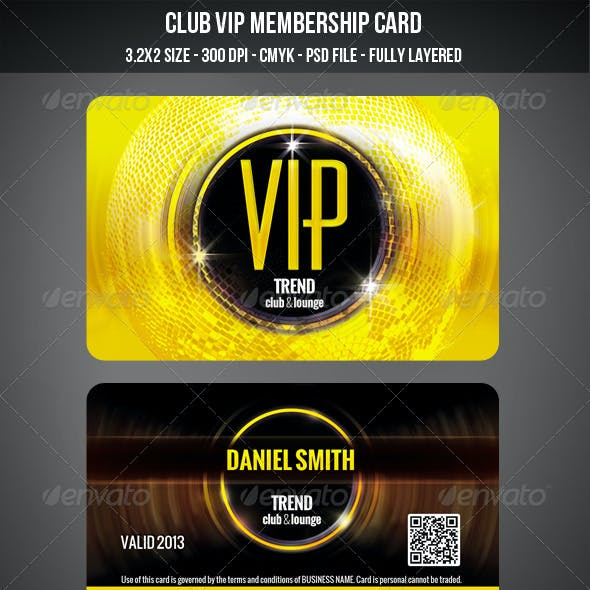 Club VIP Membership Card
