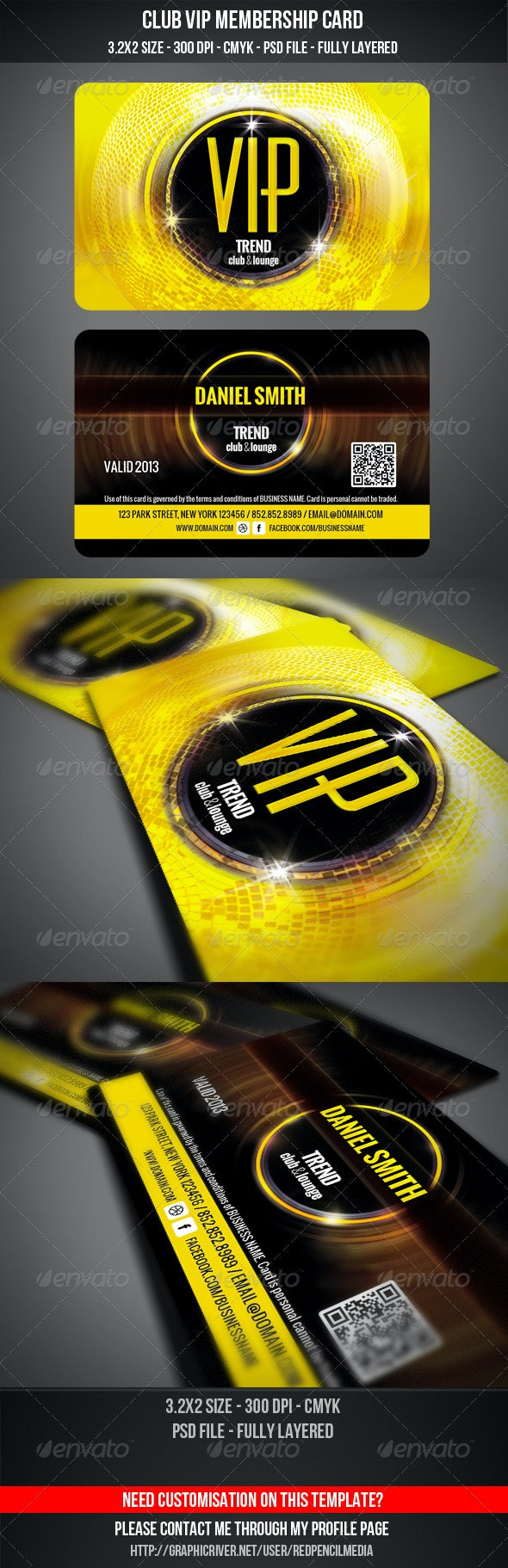 Club VIP Membership Card - Loyalty Cards Cards & Invites