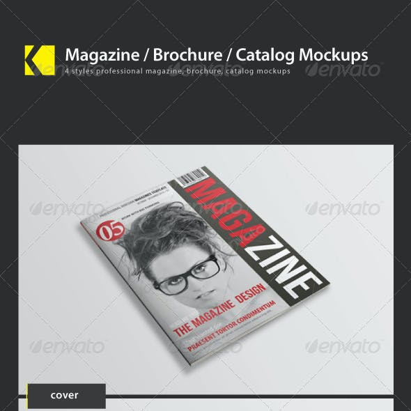 Magazine/ Brochure/ Catalog mockups