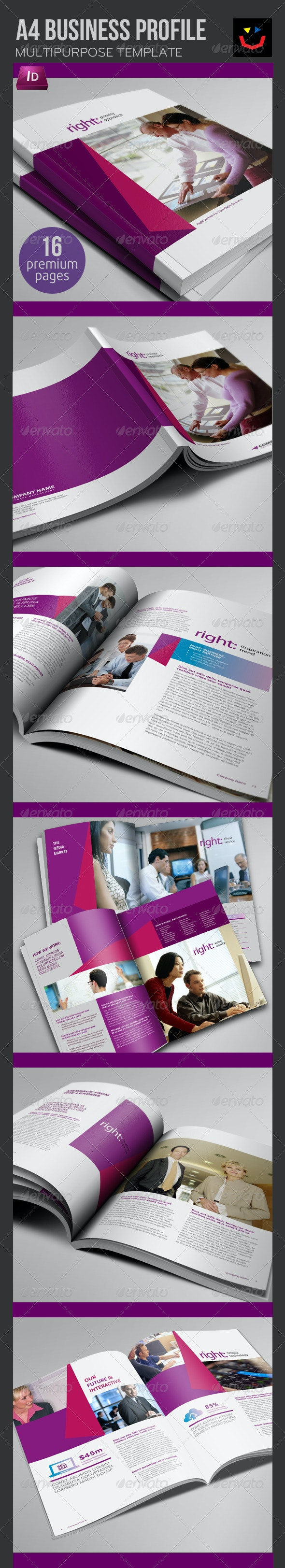 Business Profile Brochure - Brochures Print Templates
