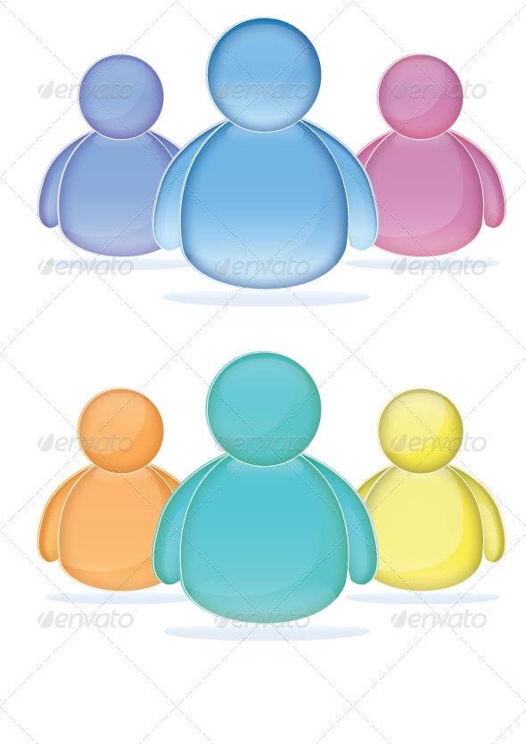 Glass Avatar Icon - Web Icons