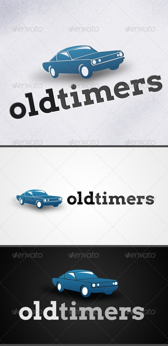 Old Timers Car Logo - Objects Logo Templates