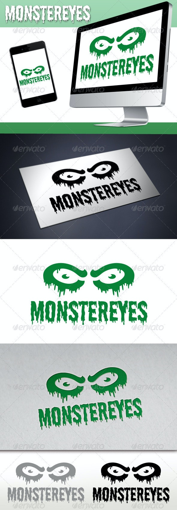Monster Eyes Studio Logo - Objects Logo Templates