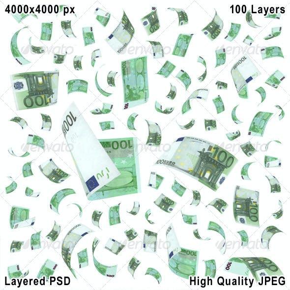 100 Euro. 100 Layers PSD