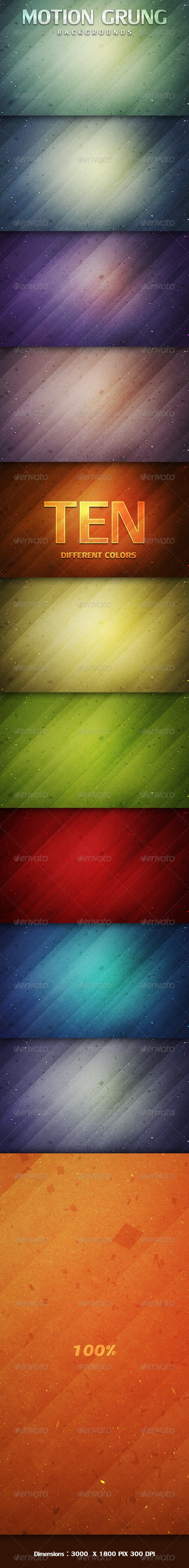 Motion Grunge Backgrounds - Abstract Backgrounds