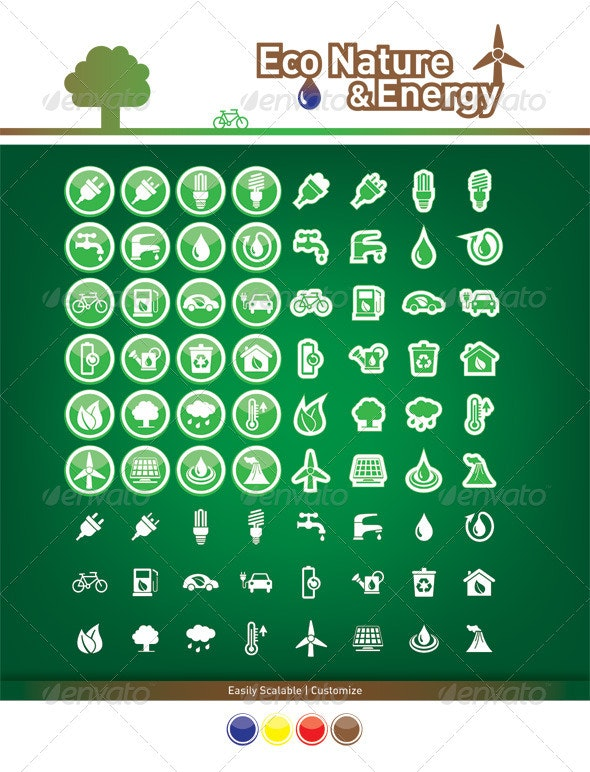 Eco Nature & Energy - Miscellaneous Icons