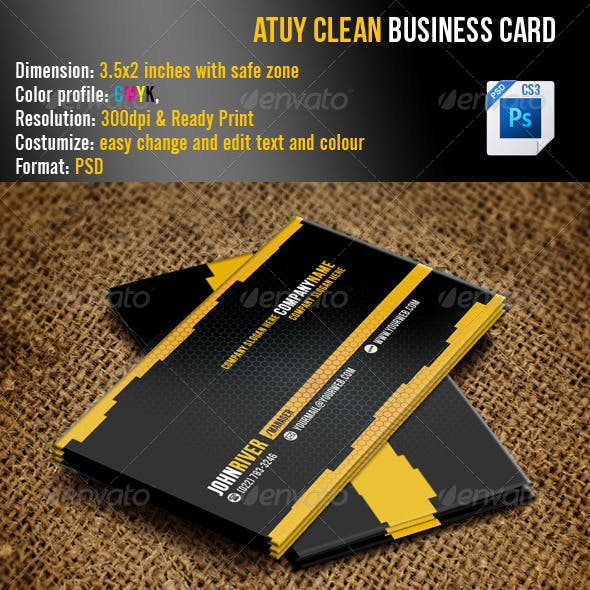 Atuy Clean Business Card