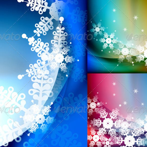 Vector Snowflakes Backgrounds