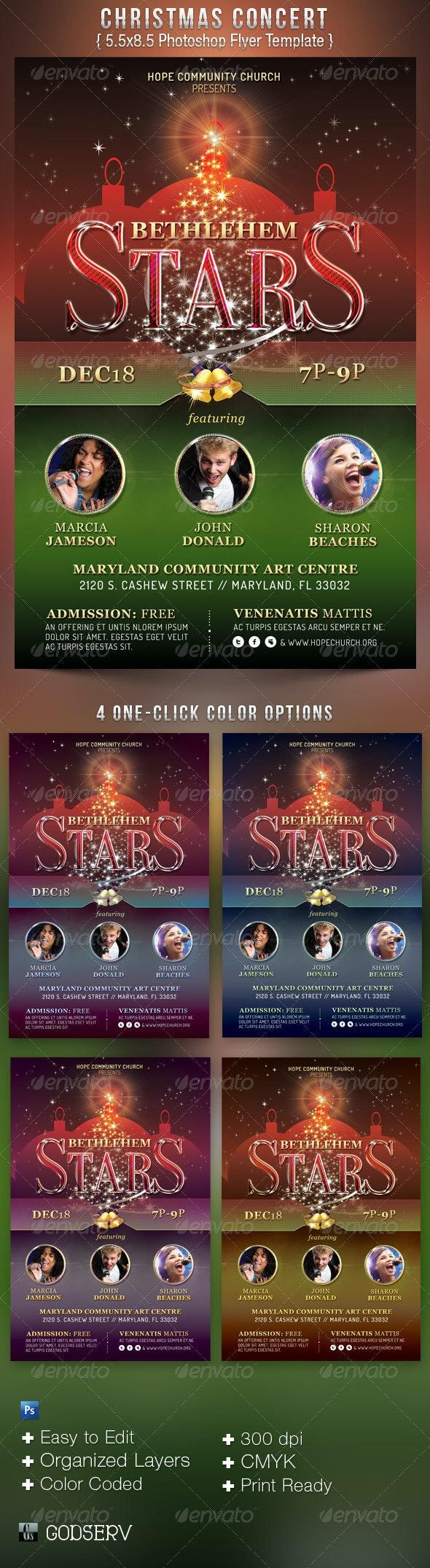 Christmas Concert Flyer Template - Church Flyers