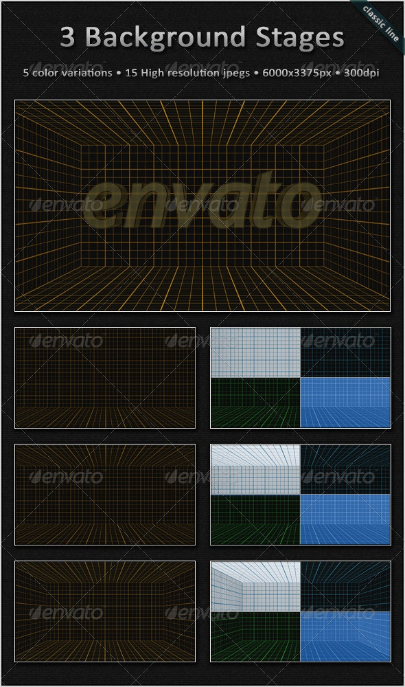 Blueprint Background Stages - 3D Backgrounds