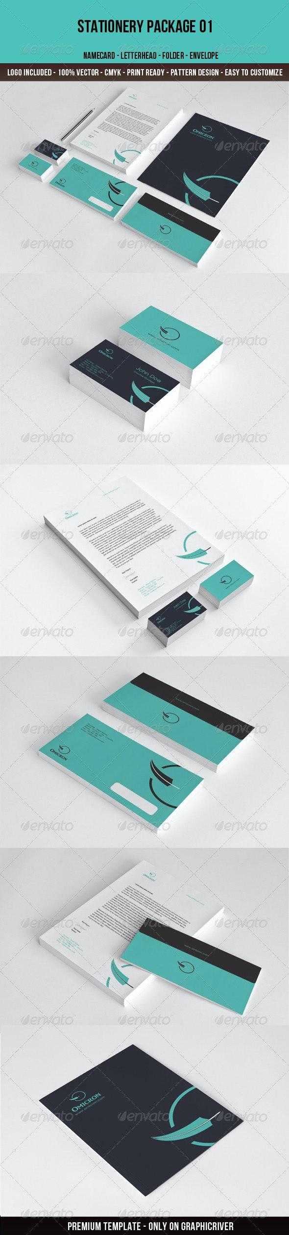 Omicron-Stationery - Stationery Print Templates