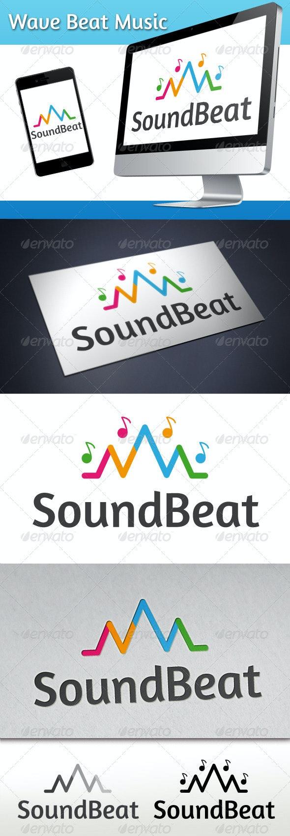 Wave Beat Music Logo - Symbols Logo Templates