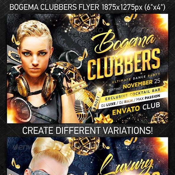 Bogema Clubbers Flyer