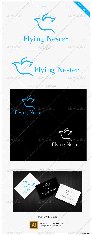 Flying Nester Logo Template - Animals Logo Templates