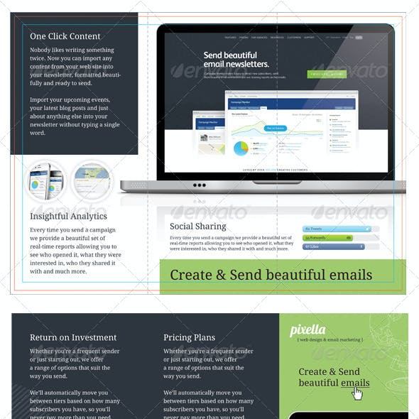 Email Marketing Template Graphics Designs Templates