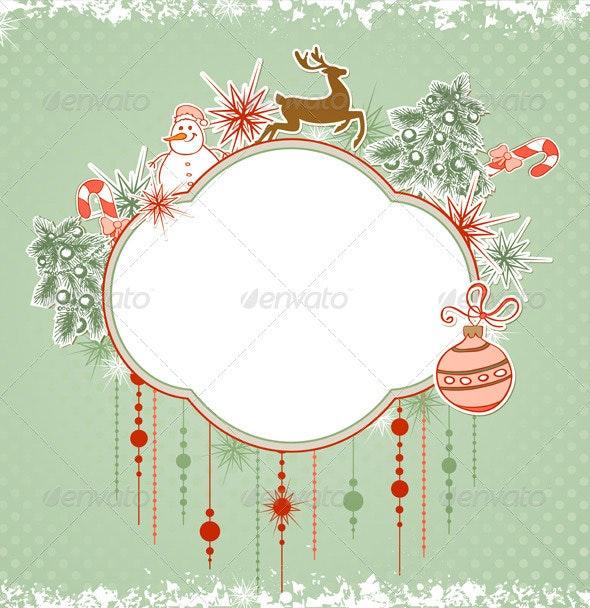 Christmas Green Background - Christmas Seasons/Holidays