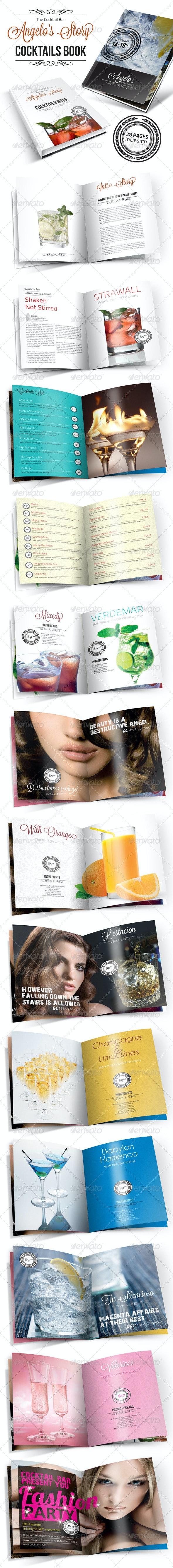 Cocktail Book Menu - Catalogs Brochures