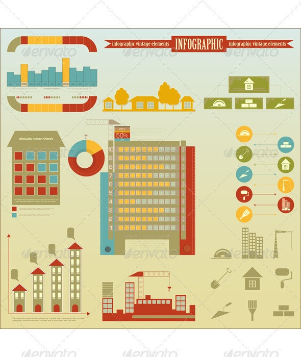 Construction Icons And Graphics - Infographics