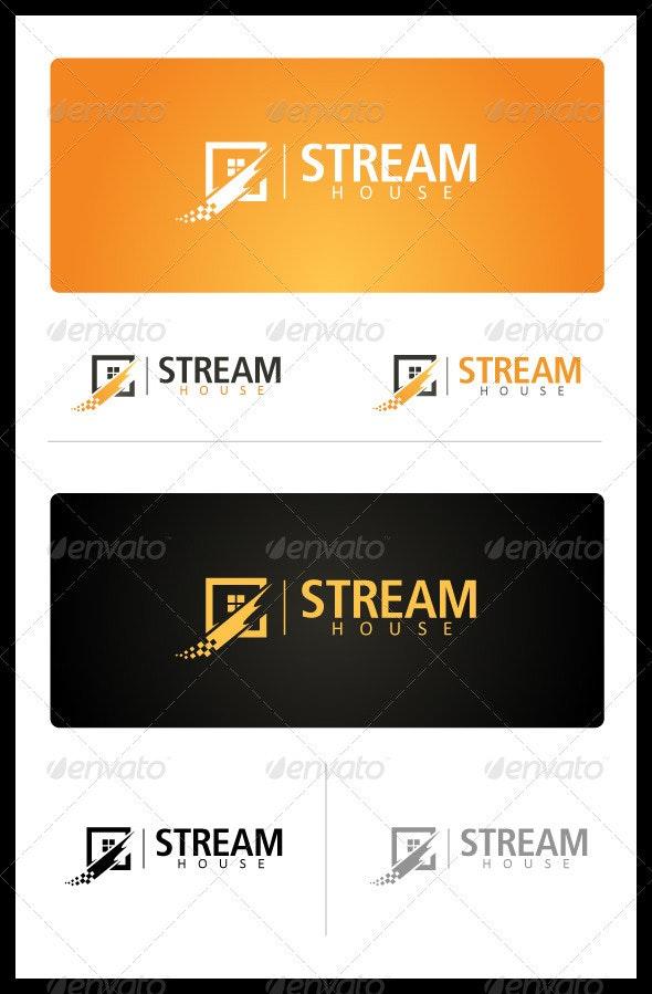 Stream House - Buildings Logo Templates
