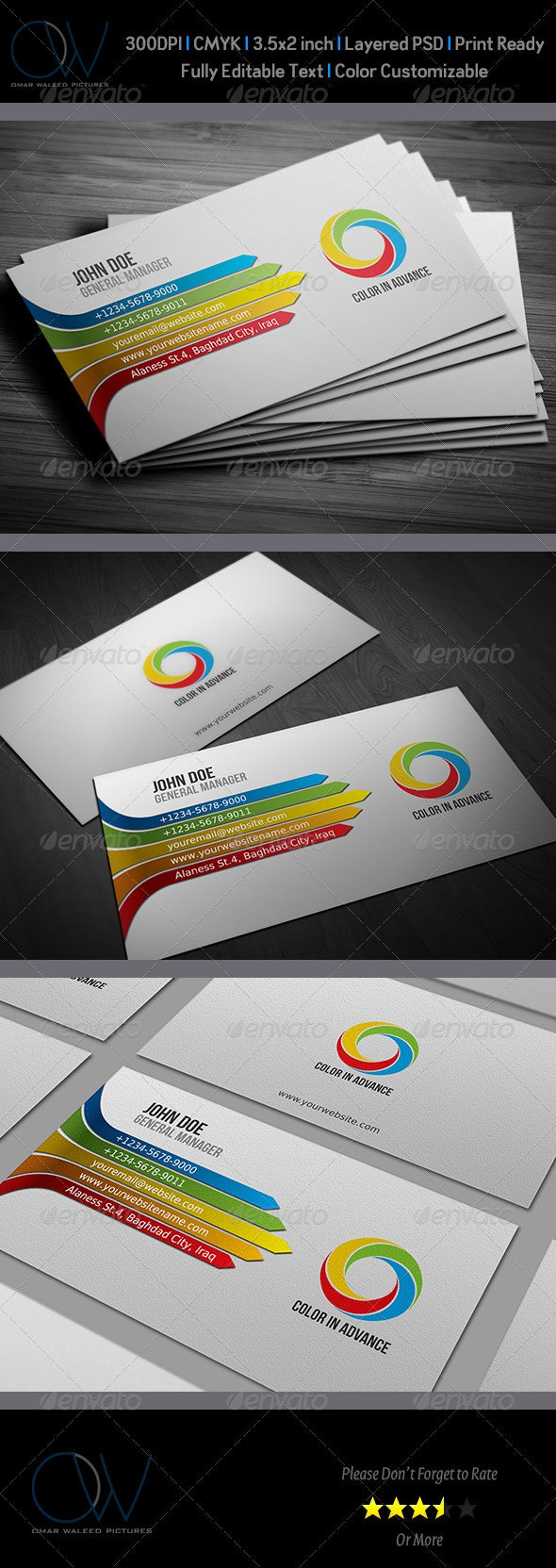 Color Business Card - Business Cards Print Templates