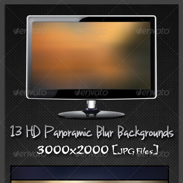 13 HD Panoramic Blur Backgrounds