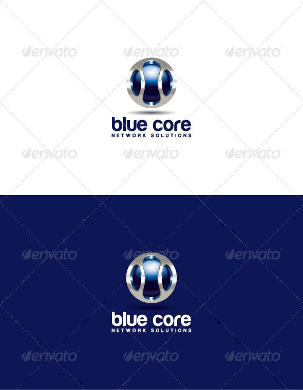Blue Core Logo - 3d Abstract