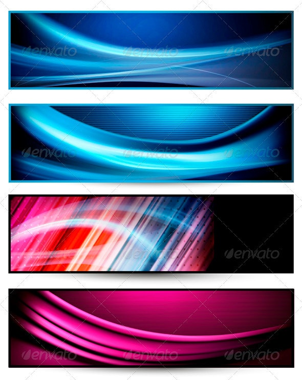 Set of colorful abstract business banners - Backgrounds Business