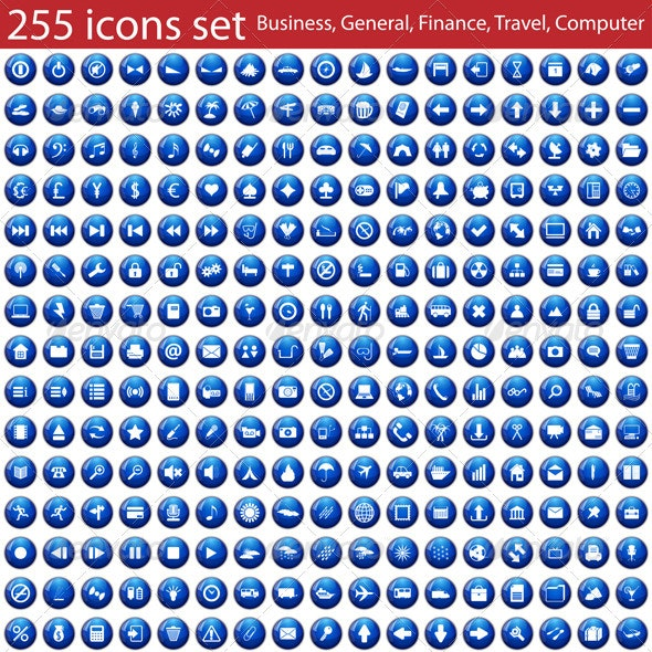 Set of 255 Icons - Icons