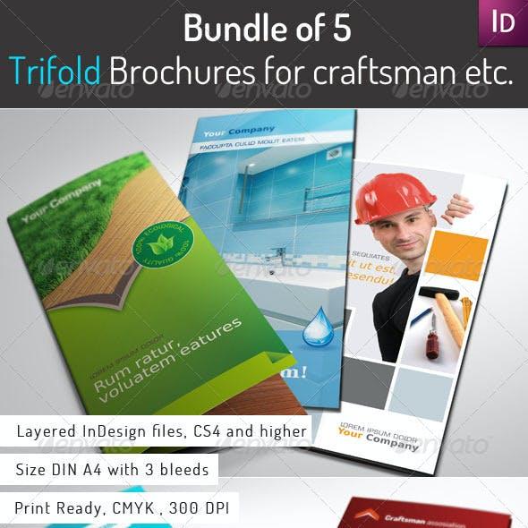 Bundle of 5 Trifold Brochures