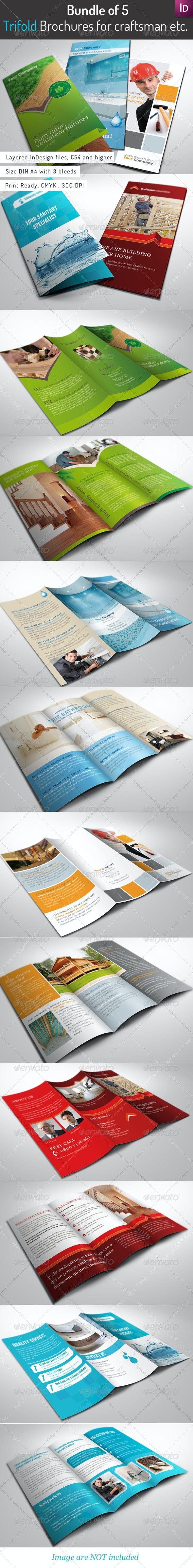 Bundle of 5 Trifold Brochures - Corporate Brochures