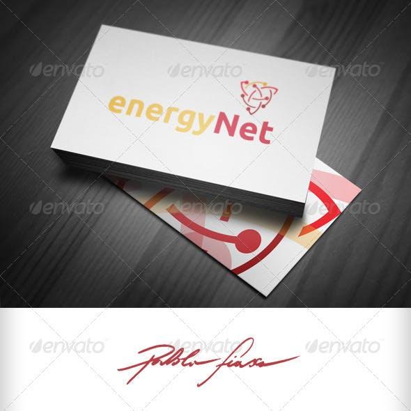 Energy Logo - Electric Logo - Spinning Atoms Logo