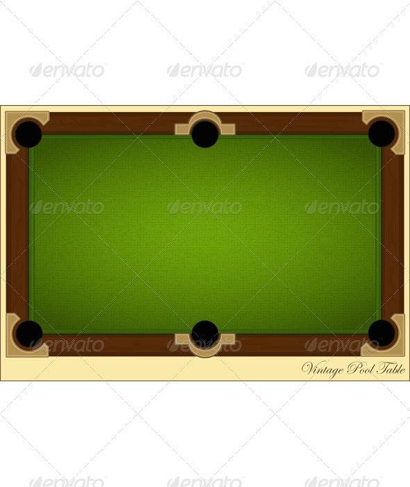 Vintage Pool Table - Backgrounds Decorative