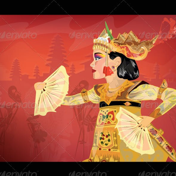 Traditional Balinese Dancer